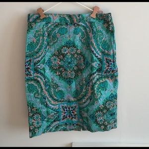J.Crew Printed Pencil skirt size 4