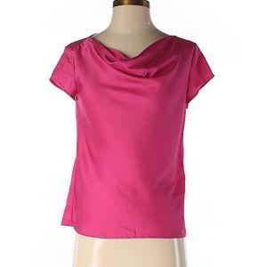 Pink Ann Taylor short sleeve blouse