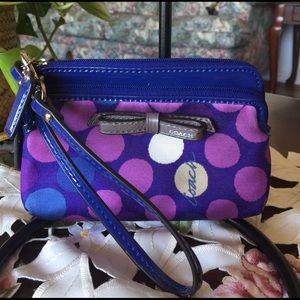 Coach Handbags - Rare coch multicolor wristlet