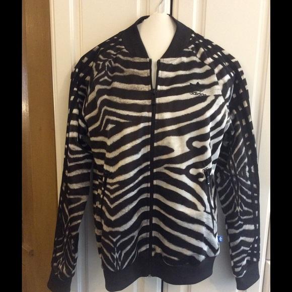 7c7ef278c33 Adidas Jackets & Blazers - Adidas Originals Supergirl Zebra Track Jacket EUC