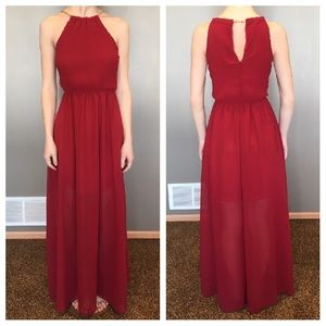 Feiyue Dresses & Skirts - 🎇SALE🎇 NWT Red Halter Maxi Prom Evening Dress