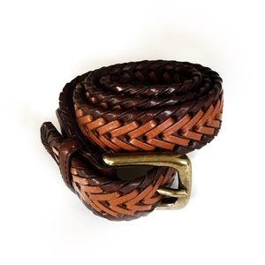 """Other - Boy's Braided Brown Faux Leather Belt L 28-30"""""""
