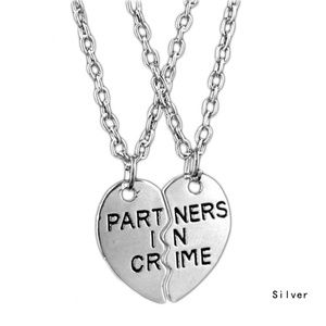 Jewelry - Partners in crime necklace - best friend 2 piece