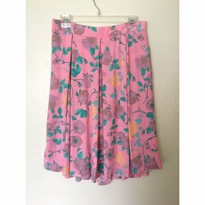 LuLaRoe Dresses & Skirts - LuLaRoe Madison Pink Floral Skirt