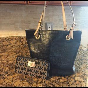 KORS Michael Kors Handbags - Authentic Michael Kors tote with wallet