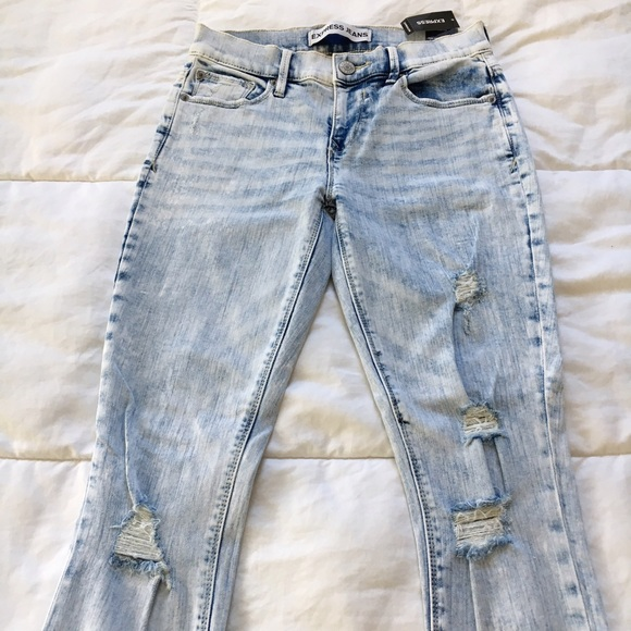 Express Jeans - SALE❗️Express Acid Wash Distressed Skinny Jean