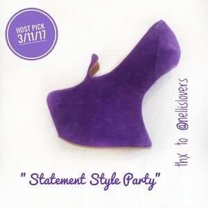 "Jeffrey Campbell Shoes - 🎉HP🎉Jeffrey Campbell ""Nightwalker"" Purple Shoes"