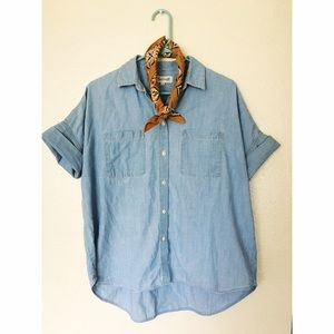 Madewell Tops - Madewell Courier Chambray Shirt in Buckley Wash