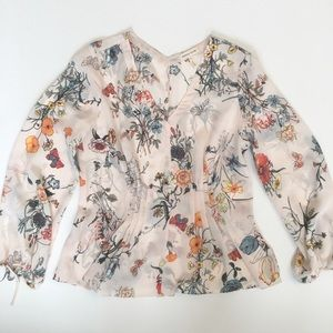 3453f03ab5bc2b Rebecca Taylor Tops - Rebecca Taylor  Meadow Floral  print silk blouse