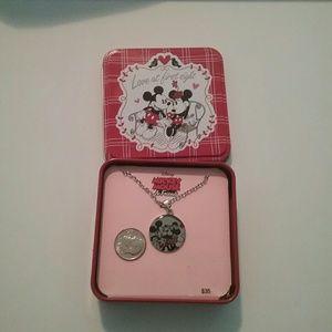 Disney Jewelry - NWT Mickey/Minnie Kissing Necklace Final Price