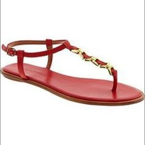 Banana Republic Shoes - Final Price Banana Republic Gold Link T-Strap