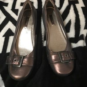 Ecco Shoes - Like new bronze Ecco flats with buckle Sz 37