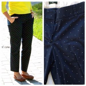 MOVING SALE❗️JCrew Navy Polka Dot Chino