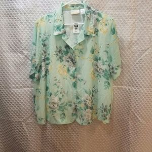 Alfred Dunner 22w blouse button up NwT