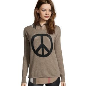 Autumn Cashmere Sweaters - Autumn Cashmere Peace Crewneck Sweater in Taupe