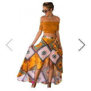 boutique Dresses & Skirts - 🆕Boho Toe Waist Asymmetical Maxi skirt