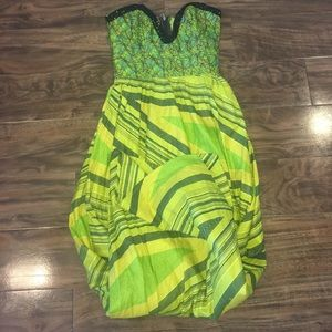 Tailor Vintage Dresses & Skirts - SALE! Tailored Sequence&Mixed green Full length 👗
