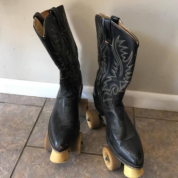 Vintage Cowboy Boot Roller Skates
