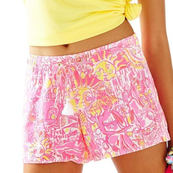 Lilly Pulitzer Pants - Lilly Pulitzer linen beach shorts NWOT