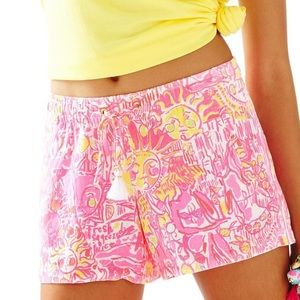 Lilly Pulitzer linen beach shorts NWOT