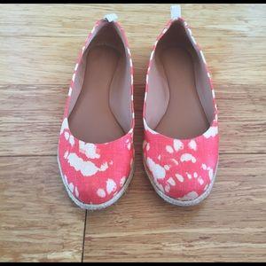 Banana Republic Shoes - Banana Republic coral woven espadrilles flats