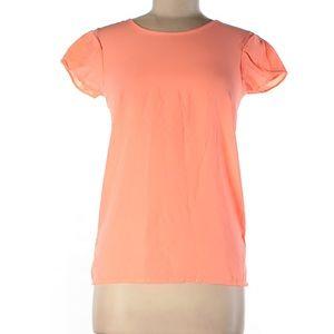 NWT Coral short ruffle sleeve blouse