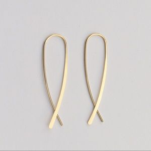 nejd Jewelry - ❗️sale❗️Gold Crossover Inverted Hoop Earrings