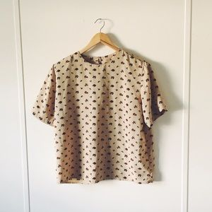 VINTAGE floral boxy top