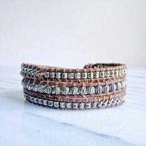 Chan Luu Jewelry - Chan Luu Leather Silver Chain Triple Wrap Bracelet