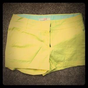 J.Crew bright yellow Shorts size 0