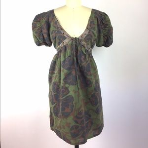 Custo Barcelona Camo Lace Front Cotton Dress S