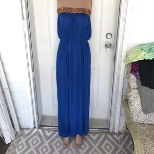 2 Hearts Dresses & Skirts - Strapless tube top maxi dress in blue or orange L