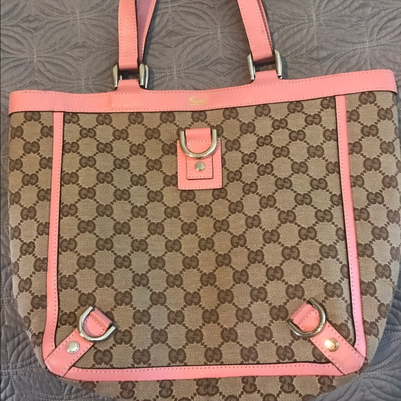 963edac2ef4 Gucci Bags | Shoulder Bag With Pink Trim | Poshmark