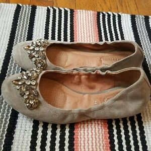 Beautiful suede jeweled flats by Corso Como