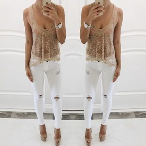 love on a hanger Tops - • Lace Racerback Top •