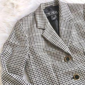Escada Silk/Wool Houndstooth blazer