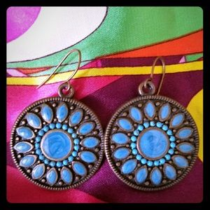 Jewelry - Turquoise boho earrings