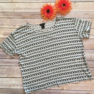Forever 21 Tops - Forever 21 Aztec Cropped Tee