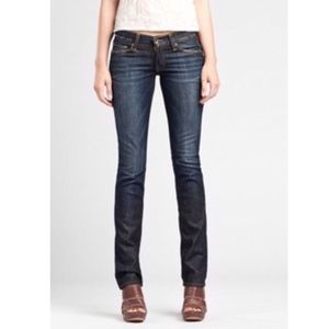 Lucky Brand Zoe Mid Rise Straight Distressed