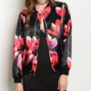Amandine Boutique Jackets & Blazers - 5 ⭐️ rated Tulips Floral Bomber Jacket