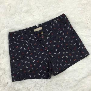 Banana Republic anchor print shorts, Sz 8 #165