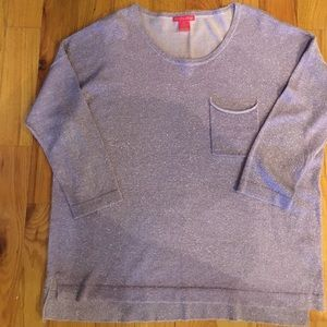 Sunny Leigh Tops - Lightweight purple with silver sweater