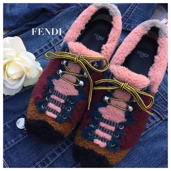 Fendi Shoes | Fendi Patchwork Shearling