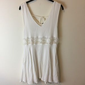 Free People White Cut Out Waist Dress
