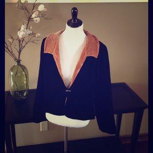 Soft Surroundings Jackets & Blazers - Soft Surroundings Velvet Evening Jacket