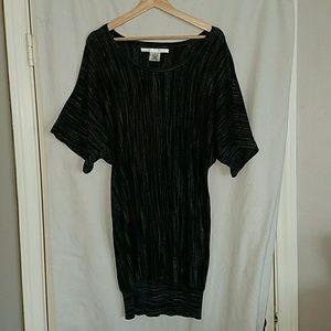 M.STUDIO Dresses & Skirts - M Studio Black & White Shirt Dress