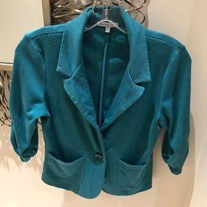 🔴BUNDLE RESTRICTIONS Aqua Cropped blazer