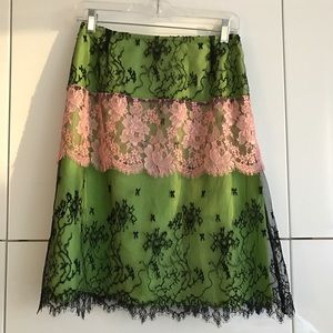 Christian Lacroix Dresses & Skirts - Lace spring skirt