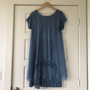 giulia Dresses & Skirts - Silk Crochet Detail Dress
