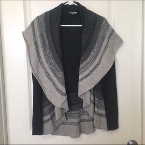 Mystree Sweaters - Janine Colorblock Open Cardigan